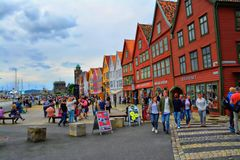 Bryggen i Берген Стоковые Изображения RF