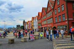Bryggen i Bergen Imágenes de archivo libres de regalías