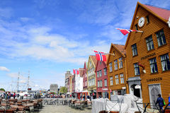 Bryggen Medieval Buildings, Bergen - Norway Royalty Free Stock Image