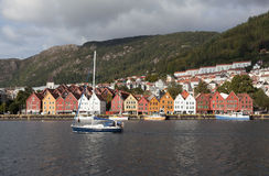 Bryggen. Norway. Bergen. Royalty Free Stock Image