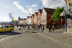 Bryggen, the old wharf of Bergen Stock Photography