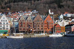 Bryggen - oldest part of Bergen, Norway Royalty Free Stock Photo