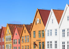 Bryggen Rooftops Royalty Free Stock Photography