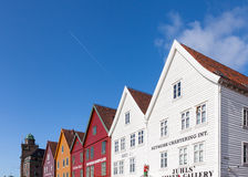Bryggen Rooftops Stock Images