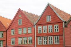 Bryggen street Bergen Royalty Free Stock Photography