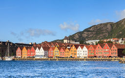 Bryggen Waterfront Royalty Free Stock Images