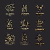 Bryggeri Logo Collection stock illustrationer