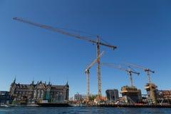 Bryghusprojektet konstruktionsplats Royaltyfri Foto
