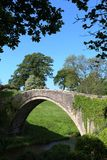Brygu o'Doon sławny most nad Rzecznym Doon, Alloway Fotografia Stock
