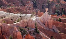 Bryka jaru park narodowy, Naturalny przyciąganie Utah obrazy stock
