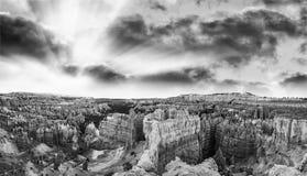 Bryka jaru park narodowy, panoramiczny widok rockowe formacje Zdjęcie Royalty Free