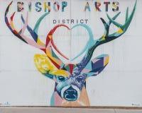 Bryka malowidło ścienne biskupa sztuki okręg, Dallas, Teksas Zdjęcie Royalty Free