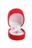 brylanta pudełkowaty pierścionek Zdjęcia Stock