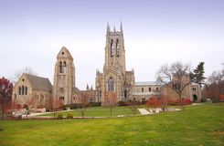 Bryn Athyn Cathedral. Wide angle view of beautiful cathedral Stock Image