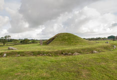 Bryn Celli Ddu prehistoric passage tomb. Stock Photo
