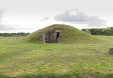 Bryn Celli Ddu prehistoric passage tomb. Entrance shown. Royalty Free Stock Photo
