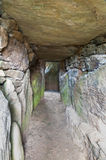 Bryn Celli Ddu prehistoric passage tomb. Interior. Royalty Free Stock Photos