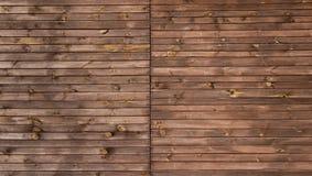Bryna den målade wood väggen - textur eller bakgrund Royaltyfri Bild