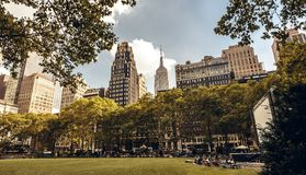 Brynat park in New York Stock Photography