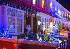 New Milton Famous Christmas Lights. Bryon Road Christmas Lights New Milton Royalty Free Stock Photography