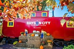 Bryson市, NC 2016年10月23日-大烟山火车r 图库摄影