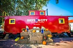 Bryson市, NC 2016年10月23日-大烟山火车r 免版税图库摄影