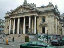 Bryssel - börsslott Arkivfoto