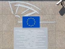 BRYSSEL BELGIEN - AUGUSTI 5, 2014: tillträde Fotografering för Bildbyråer
