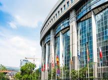 BRYSSEL BELGIEN - Juni 16, 2016: Yttersida av byggnaden av Arkivfoto