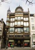 Bryssel Belgien: Museum av musikinstrument Arkivfoto