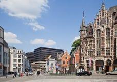 Bryssel cityscape Arkivfoton