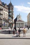 Bryssel cityscape Arkivbilder