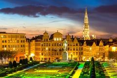 Bryssel Cityscape Belgien Arkivbild