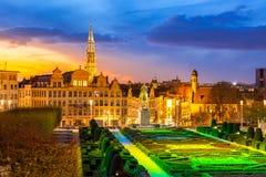 Bryssel Cityscape Belgien Royaltyfria Bilder