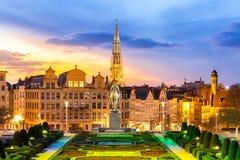 Bryssel Cityscape Belgien Arkivfoton