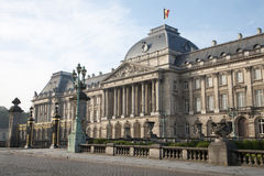 Bryssel - den kungliga slotten Arkivbild