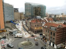 Bryssel europeisk fjärdedel Arkivbild