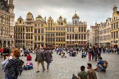 Bryssel gammal stad royaltyfri bild