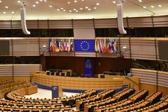 Bryssel historisk stad och europeisk parlamentarisk stad royaltyfria foton
