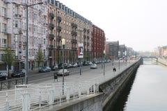 Bryssel kanal arkivfoto