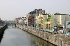 Bryssel kanal royaltyfri foto