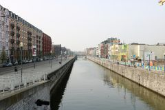 Bryssel kanal royaltyfri bild