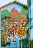 Bryssel komiska väggSpirou grafitti Royaltyfria Foton