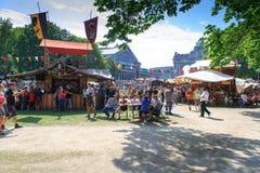 Bryssel medeltida festival Arkivbilder
