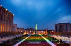 Bryssel - månaddes-konster Arkivfoto