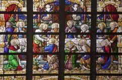 Bryssel - sista super av Kristus royaltyfri bild