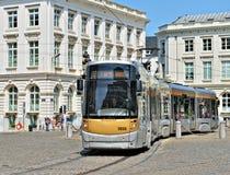 Bryssel spårvagn Royaltyfria Bilder