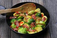 Bryssel spirar med bacon Royaltyfri Fotografi