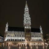 Bryssel stadshus/stadshus (Hotell de Ville) Arkivbilder