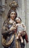 Bryssel - staty av jungfruliga Mary Arkivbild